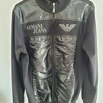 Emporio Armani Black Excellent Condition Size M Armani Jeans Leather Look Photo