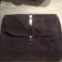 Emporio Armani Dark Navy Suede Leather Messenger/saddle Bag Photo