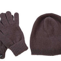 Emporio Armani Ea7 Women's Beanie Hat With Gloves New Brown  Eaa Photo