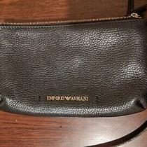 Emporio Armani Handbag Black Leather Top Quality Designer  Photo