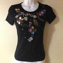 Emporio Armani Jewelry Print Black Tee Shirt Photo