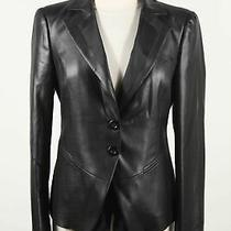 Emporio Armani Made in Italy Coated Polyester Women's Two Button Blazer Size 44 Photo