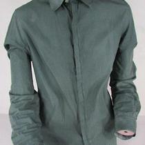 Emporio Armani Men Green Squares Plaid Original Dress Shirt Long Sleeves Size Xl Photo
