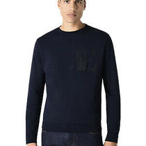 Emporio Armani Mens Logo Sweatshirt Medium Dark Blue Photo