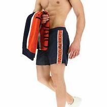 Emporio Armani Swimwear Side Logo Fit Swim Shorts Navy M Photo