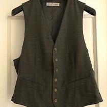 Emporio Armani Vest Brown Stripe Wool Size  50  It 50 Photo