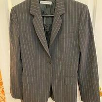 Emporio Armani Women's Blazer-Made in Italy - Sz 40 Us 4 -Charcoal/white Stripe Photo