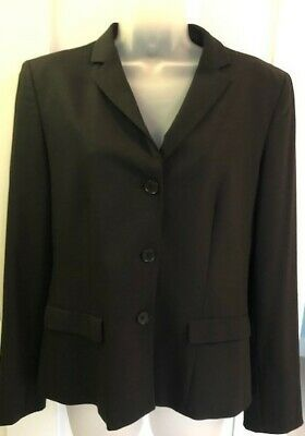 EMPORIO ARMANI Women's Wool Type Blazer Jacket Made Italy Black Size 38 XS Photo