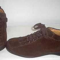 Emporio Armani Womens Brown Suede Ankle Boots Shoes 9 Photo