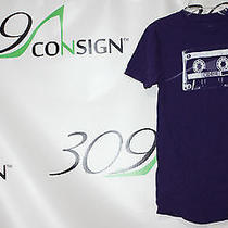 Empyre Mens Small Purple Cassette Tape Prism Cotton Short Sleeve T-Shirt T Shirt Photo