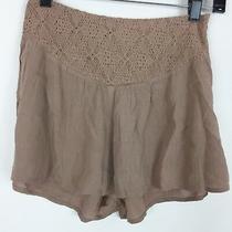 En Creme Shorts Women's Size Small Blush Pink Lace Knit Flowy High Waist Rise Photo
