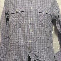 English Laundry Blaque Label Purple Plaid Flip Cuff/contrast Collar Men's Small Photo