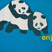 Enjoi Piggyback Panda Mens Boys Teens T Shirt Skater M Aqua Blue Photo