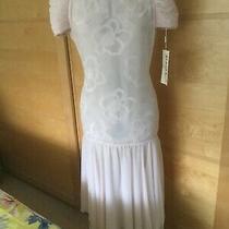 Entente Vintage Blush Pale Pink Drop Waist Dress Wedding Cocktail Ball Photo