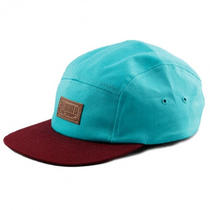 Entree Ls - the Maroon Brim Aqua - 5 Panel Hat Cap - Brand New - Free Shipping Photo