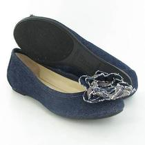 Enzo Angiolini Bourgoin Ballet Flats Dark Blue Womens Size 7.5 M New 89 Photo