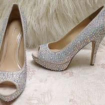 Enzo Angiolini Crystal White Wedding Heels Shoes Size 5.5 Us Photo