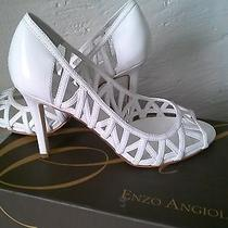 Enzo Angiolini Eamixx White High Wedding Stilettos Shoes Size 6 1/2 M Photo