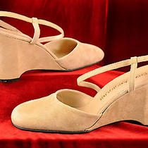 Enzo Angiolini  Light Beige Slingback Wedges Size 7.5 M Photo