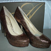 Enzo Angiolini New Womens Smiles Gold Pump Heels 9.5 M Shoes Photo