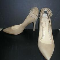 Enzo Angiolini Womens Heels Pumps Tan Suede Leather Shoes Size Us 9 M Photo