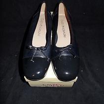 Enzo Angiolini Womens 7.5 M Mesalina Ballet Flat Shoes Leather Navy Blue  Nib Photo