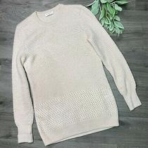 Equipment Femme Womens Cashmere Wool Rei Sweater Xs Blush Beige Waffle Knit Photo