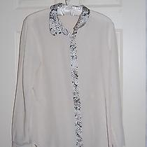 Equipment Python Blush Ivory Silk Button Down Shirt Blouse in Size M Photo