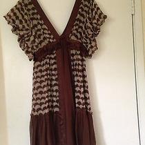 Erica Davies Size 4 Brown and White Dress Photo