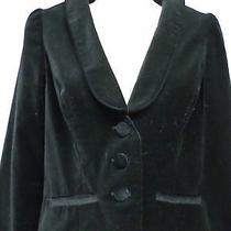Erin Fetherston Black Velvet Jacket Sz Small Photo