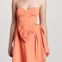 Erin Fetherston Strapless Taffeta Sweetheart Bow Dress Orange Flame 8 Nwt 335 Photo