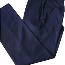 Ermenegildo Zegna Blue Pinstripe Dress Pants Size 49r Photo