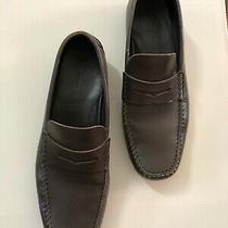 Ermenegildo Zegna Brown Leather Dress Loafer Shoes Size 9.5 Italy Photo