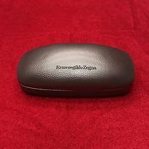 Ermenegildo Zegna  Dark Brown Hard Shell Leather Sunglasses Case 6 1/2 X 3 New Photo