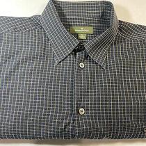 Ermenegildo Zegna Dress Shirt Black/brown Plaid Cotton Button Front Mens Photo