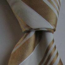 Ermenegildo Zegna Golden Striped Thick Cotton and  Silk Made in Italy Photo