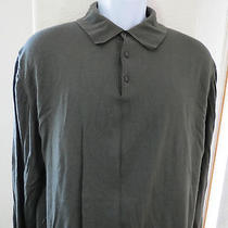 Ermenegildo Zegna Gray Wool Polo Long Sleeve Shirt Mens Xl 54 321 Photo