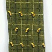 Ermenegildo Zegna Green Check Bolt Screw Pattern 100% Silk Men's Neck Tie Italy Photo