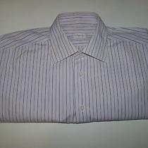 Ermenegildo Zegna Men's Dress Shirt Cotton Size 16 41 Original Luxury Top 400 Photo