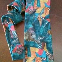 Ermenegildo Zegna Men's Necktie Collection Patchwork Pattern Bright Colors Silk Photo
