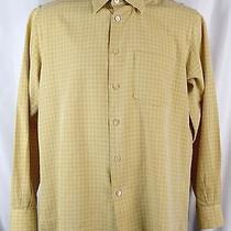 Ermenegildo Zegna Men's Shirt Silk/cotton Size M Medium L/s Button Down N83b Photo