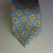 Ermenegildo Zegna Neck Tie Hot Hot Aqua blue&orange Mint Conditioni13 Photo