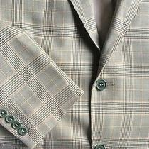 Ermenegildo Zegna  Sage Green Plaid Wool Blazer Size 40/42 R Hand Tailored  Photo