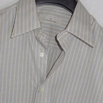 Ermenegildo Zegna Striped Casual Dress Shirt Sz. L/39-15.5 Photo