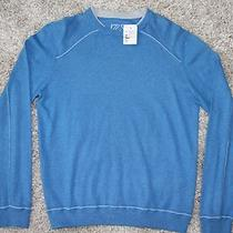 Ermenegildo Zegna Sweater Size S 245 Cashmere Cotton Aqua Blue Chst 20 Slv 32 Photo