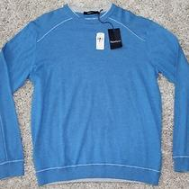 Ermenegildo Zegna Sweater Size Xxl 245 Cashmere Cotton Aqua Blue Chst 23 Slv 36 Photo