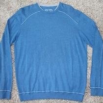 Ermenegildo Zegna Sweater Sz Xl 245 Cashmere Cotton Aqua Blue Chst 22.5 Slv 35 Photo