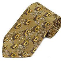 Ermenegildo Zegna Tie Tuscan Gold Floral  Silk Neckite 175 Retail New Photo