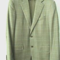Ermenegildo Zegna Wool Plaid Two-Button Jacket Olive Size 48/38 Us Photo