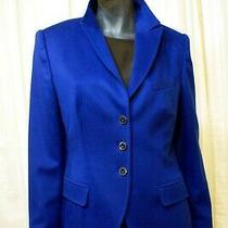 Escada 100% Cashmere - Elegant Royal Blue 3-Button Classic Blazer Jacket Size 40 Photo